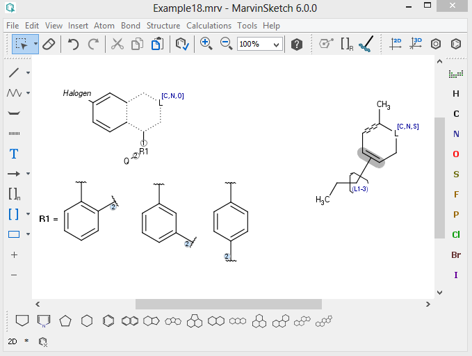 Figure1. Marvin Sketch interface