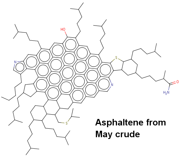Asphaltene from May crude